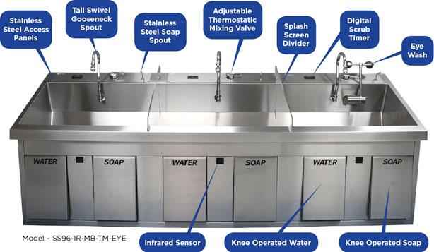 Scrub Sinks Dbmedical Inc